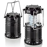 Auraglow batteriebetriebene faltbare superhelle Laterne Licht mit 30 LEDs für Camping und Garten