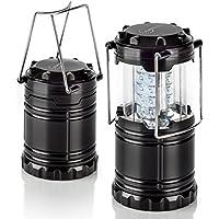 Auraglow – Linterna plegable con 30 luces LED superbrillantes para camping y jardín, funciona con pilas