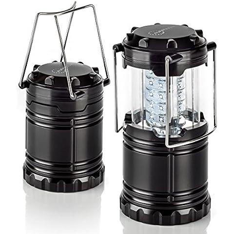 Auraglow–batteriebetriebene pieghevole LED lanterna luce con 30luminosi per campeggio e