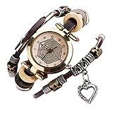 Ouneed® Uhren, Luxus-Marken-Weinlese-Armband-Uhr-Armbanduhr-Dame-Kleid-Quarz-Uhr (Kaffee)