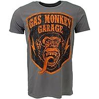 Gas Monkey Garage Shield T-Shirt Grey Official Licensed
