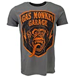 Gas Monkey Garage Shield T-shirt Grey Official Licensed TV