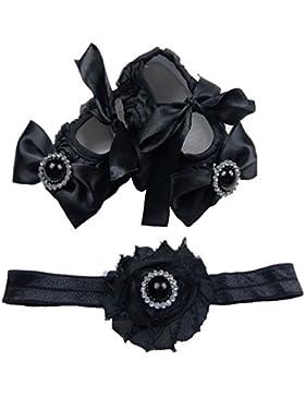 Süße Baby Ballerina in schwarz inkl. passendem Haarband