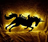 Schlummerlicht24 Led Wand_Lampe Einhorn mit Name, Geschenk für Pferde-Fans, als Deko-Einhörner im Mädchen Kinder-Zimmer