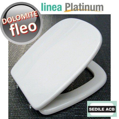 Sedile compatibile con fleo di ceramica dolomite