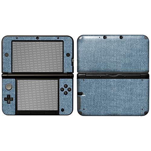 atFoliX Skin kompatibel mit Nintendo 3DS XL 2012, Designfolie Sticker (FX-Denim-Blue), Jeans-Stoff Optik -