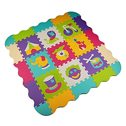 Menu Life ML-P008 Soft Foam Play Mat Interlocking EVA Soft Jigsaw Puzzle Foam Baby Child Play Area Yoga Exercise Mats (32 x 32 x 1cm, 9pcs Play Mats with