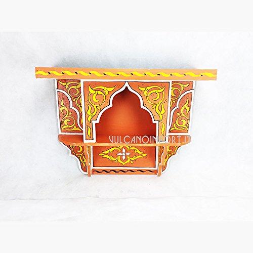 Étagère marocaine peinte à la main