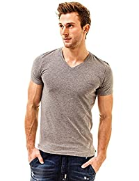 """Diesel """"Michael Classic T-Shirt à col V Shirt"""", Gris (Style No CG26)"""