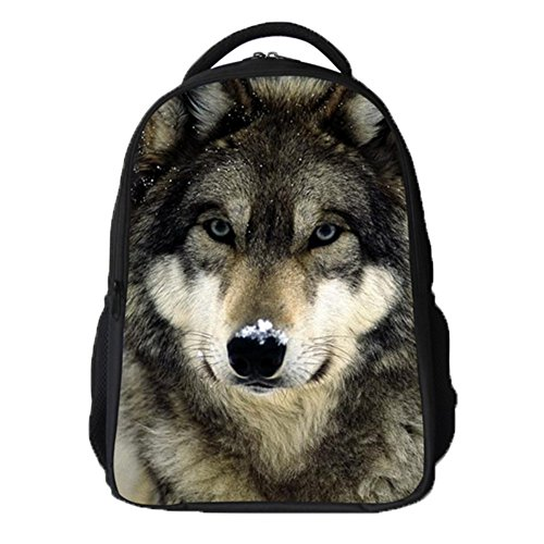 Ohmais 3D Tier Rücksack Rucksäcke Backpack Daypack Schulranzen Schulrucksack Wanderrucksack Schultasche Rucksack für Schülerin Hund