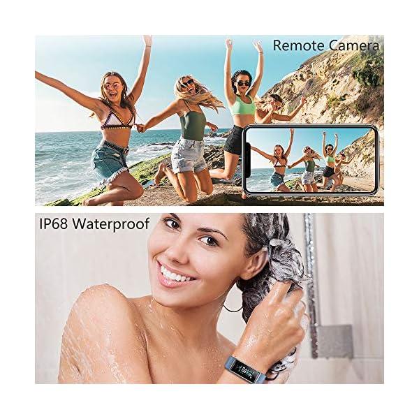 KUNGIX Pulsera de Inteligente Mujer, Smartwatch Impermeable IP68 con 14 Modos de Deporte, 0.96 Inch Pantalla Color Reloj Deportivo con Pulsómetro para Hombre Android iPhone iOS Teléfono 6