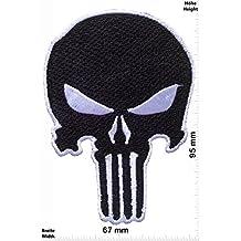 Weiss Iron On Punisher Punisher Patch zum aufb/ügeln Aufn/äher Cartoon