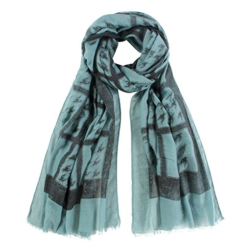 vlunt Mesdames mousseline de soie écharpe écharpe enveloppe de plage de mousseline de soie écharpe Wraps 192-green