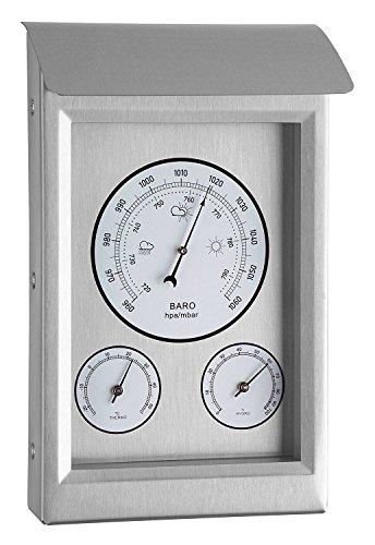 Estación meteorológica 3 en 1 Youshiko para Uso Interior y Exterior, barómetro, termómetro, higrómetro...