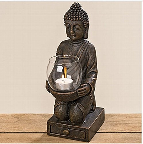 Windlicht Buddha ca