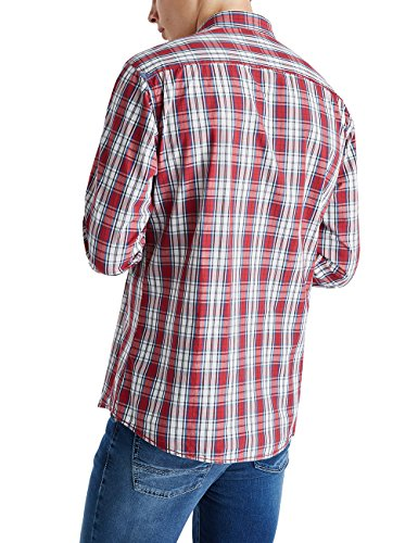 Pioneer Men Shirt, Chemise de Loisirs Homme Rouge - Rot (warm red 807)