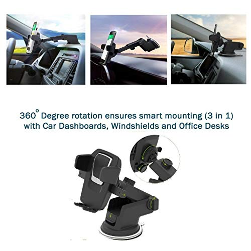 [Get Discount ] Alexvyan Car Mobile Holder/Stand Adjustable with Windshield/Dashboard/Working Desk Mount with Quick One Touch Technology for Mobile Phones 51n1Ve1Y63L