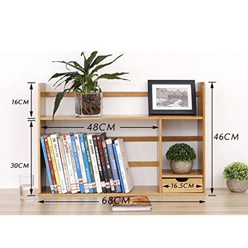 Desktop Bookshelf mettere le cose semplice cornice rack ritocchi alla tabella creativa multifunzione cassetto un solo strato di legno solido Piccolo Librerie ( colore : 68cm )