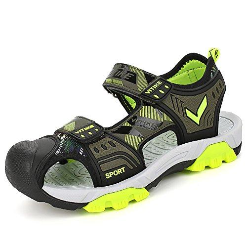 Sandalen Große Füße (Sandalen Kinder Jungen Mädchen Outdoor Sports Trekkingsandalen Atmungsaktiv und schnell trocknend, 3-grau, 35 EU)