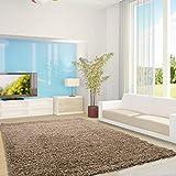 Ayyildiz Moderner Designer Teppich Life Shaggy 240 X 340 beige Handgetuftet 100% P.P Friese Fußbodenheizung