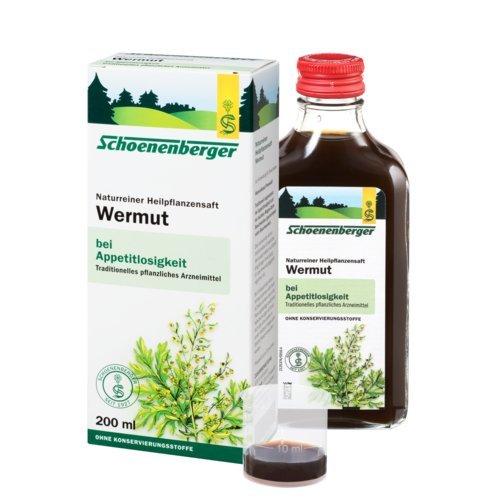 Schoenenberger Wermut, 1er Pack (1 x 200 ml) - Bio (Bio-bienenhonig)