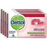 Dettol Skincare Soap, 125g (Pack of 4)