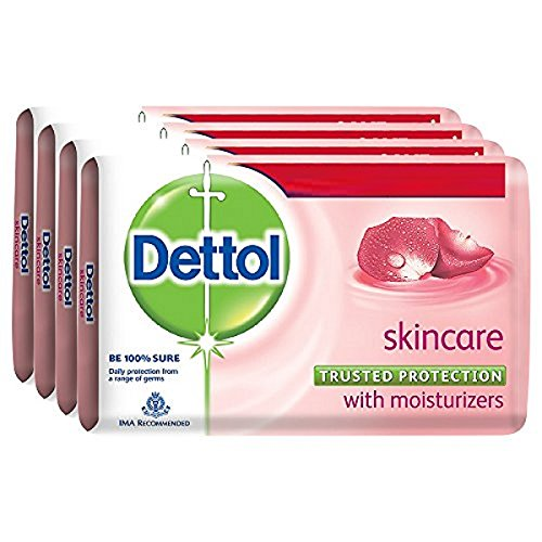 Dettol Skincare Soap, 125g (Pack of 4)...