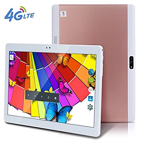 2017 Newest bestenme 4G LTE 10 Inch Tablet PC Android 6.0 Octa Core 4G RAM 64G ROM WIFI GPS 7 8 9 10.1 4G Dual sim card Phone Call Tablets PC Rose Gold
