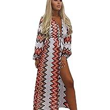 Vestido de Playa de Mujer de Vestido de Rayas de Vestido Boho de Fiesta Noche de