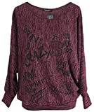 Emma & Giovanni - Pullover Loose Fit - Damen (Bordeaux, L/XL)
