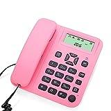 Telefon- Telefon-Hands-Free Home Rosa ABS Business Office Festnetz Badezimmer Hotel Haushalt Verdrahtet Telefon Welcome (Farbe : Pink)