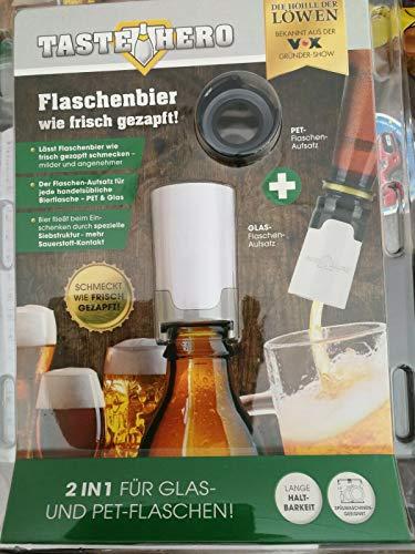 Taste Hero Flaschenaufsatz für Bier 1er Set   Wie frisch gezapft, macht jede Bierflasche zum Zapfhahn   Für Glas- und PET-Flaschen, spülmaschinengeeignet, weiß