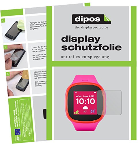 dipos I 6X Schutzfolie matt passend für Alcatel Movetime Family Watch MT30 Folie Displayschutzfolie