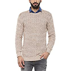 United Colors of Benetton Mens Cotton Sweater (17A1CTNJ1024I_Beige_S)