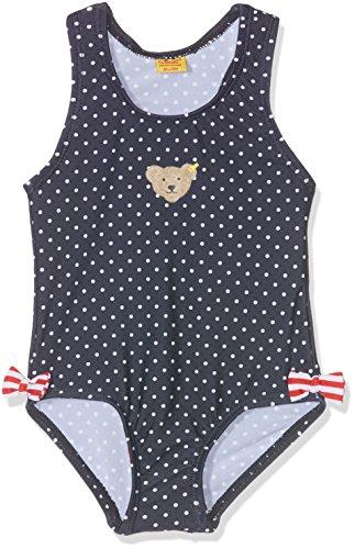 Steiff Baby-Mädchen Einteiler Badeanzug, Blau (Black Iris 3800), 68