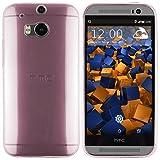 mumbi S-TPU Schutzhülle HTC One M8 / M8s Hülle transparent pink (Ultra Slim - 0,55mm)