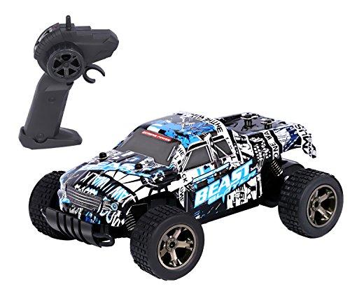Preisvergleich Produktbild RC Rock Crawler Auto,  2.4 GHz 1:20 Fernbedienung Racing Buggy Auto 20Kmh Crazy Speed RC Off Road Truck mit wiederaufladbare Batterien Elektrische Energie Buggy Truggy Rennwagen Hobby Spielzeug (Blau)
