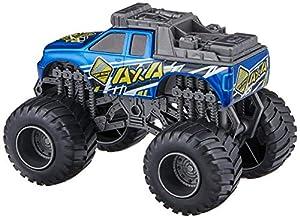 Dickie Toys 203752010 Monster Truck - Camión de Juguete (2 Modelos) 203752010-Monster - Luz y Sonido (Escala 1:43, 15 cm, 2 Modelos), Color Rojo y Azul