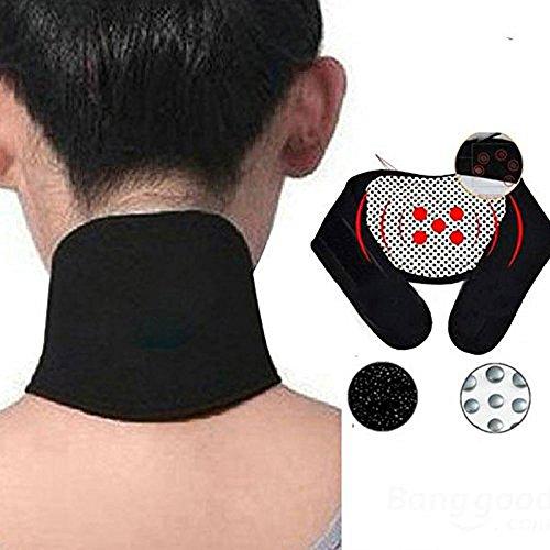 thérapeutique magnétique pour la nuque, collier de support souple réglable protection du cou Pad Spontané auto-chauffant Ceinture de maux de tête cou masseur