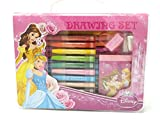#8: HMI Original Disney Princess Licensed Colour Drawing Set with Colour Pens, Oil Pastels and other required Stationery in box packing, 28 Pieces Set