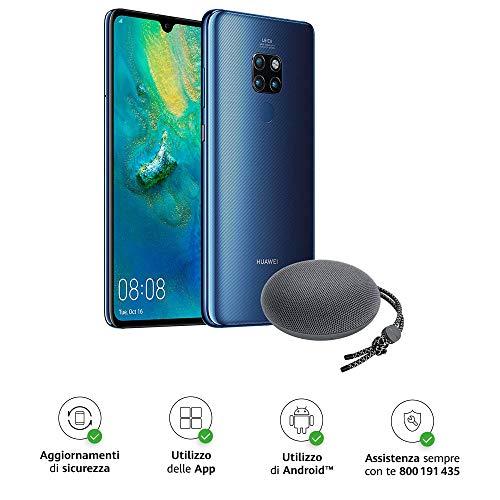 Huawei Mate 20 Pro (Blu) più Cover Originale, Telefono con 128 GB, Display Oled 6.39' QHD+, Processore Kirin 980 Octa Core dinamico con Intelligenza Artificiale [Versione Italiana]