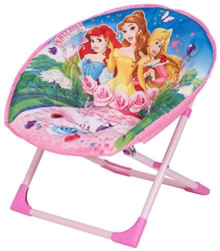 Disney-Motive Princess Moon Stuhl mit Material Oberfläche, 50 x 50 x 46 cm, Rosa