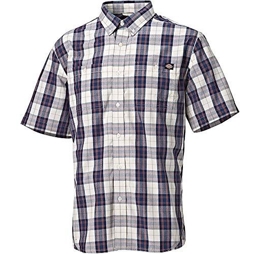 Dickies Hemd Bradbury, 1 Stück, M, marineblau kariert, 7000 NVC M (Poly-hemd)
