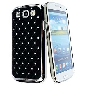 kwmobile Hardcase Glitzer Hülle für Samsung Galaxy S3 / S3 Neo - Strassstein Chrom Backcover Case Schutzhülle in Schwarz Silber