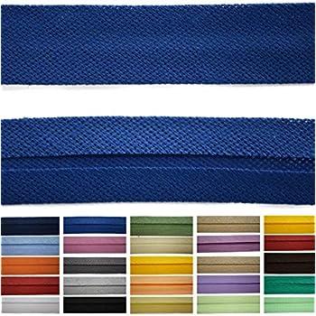 Roban Fashion Satin Schr/ägband 20 mm breit Textilband Blende in 26 Farben