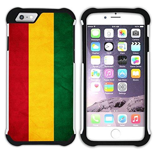 Graphic4You Vintage Uralt Flagge Von Bolivien Bolivianer Design Hart + Weiche Kratzfeste Hülle Case Schale Tasche Schutzhülle für Apple iPhone 6 / 6S Bolivien Bolivianer