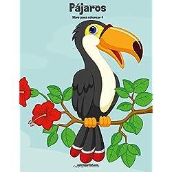 Pájaros y loros libro para colorear 4: Volume 4