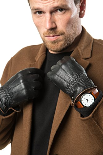 - 51n1e74wHaL - Marino Mens Warm Fashion Leather Gloves, Extreme Cold Weather Waterproof Gloves with Insulation Liner