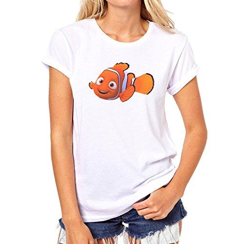 Finding Nemo Marvin Say Hi Damen T-Shirt Weiß