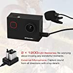 Apexcam M90 Pro EIS Action Camera 4K 20MP WIFI for Sports 170°Wide-Angle 40M Waterproof with Remote Control Selfie Stick 2 Rechargeable Batteries and Accessories Kit 18